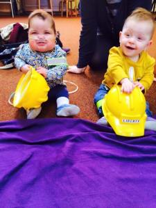 Imogen and Liberty safety baby signing
